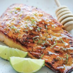 PWS Plates: Manuka Glazed Turmeric Salmon